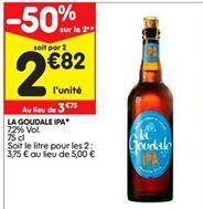 Bière La Goudale offre à 2,82€