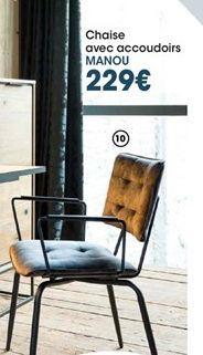 Chaise offre à 229€