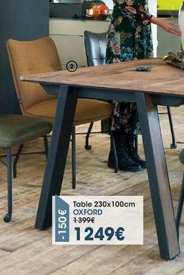Table offre à 1249€