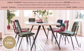 Chaise offre à 129€