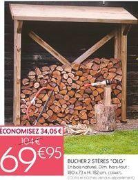 Bûcher offre à 69,95€