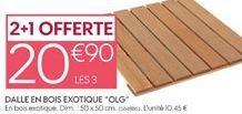 Dalle en bois offre à 20,9€