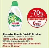 """Lessive liquide """"Ariel"""" Original offre à 9,99€"""