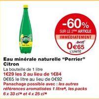 Eau minérale naturelle Citron offre à 0,92€