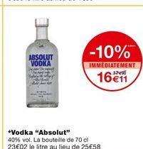 """Vodka """"absolut"""" offre à 17,9€"""