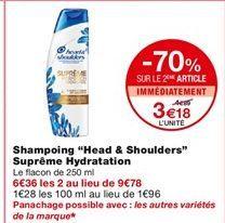 "Shampoing ""Head & Shoulders"" Suprême Hydratation offre à 4,89€"