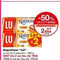"""Gâteau Napolitan """"LU"""" offre à 3,78€"""