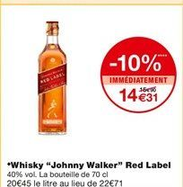 "Whisky ""Johnny walker"" offre à"