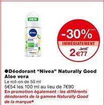 "Déodorant ""Nivea"" Aloe Vera offre à 3,95€"
