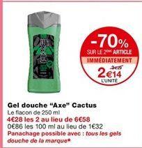 """gel douche """"Axe"""" Cactus offre à 3,29€"""