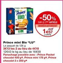 Biscuits Prince Mini Bio offre à 2,09€