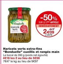 Haricots verts extra-fins offre à 2,79€