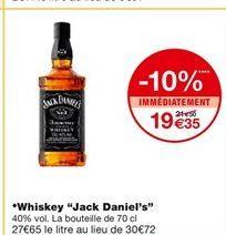 Whisky Jack Daniel's offre à 21,5€