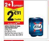 Bière offre à 2,91€