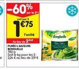 Purée Bonduelle offre à 1,75€