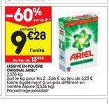 Lessive  en poudre Ariel offre à 9,28€