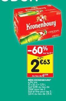 Bière offre à 2,63€