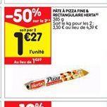 Pâte à pizza offre à 1,27€