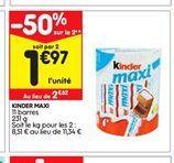Chocolat au lait Kinder offre à 1,97€