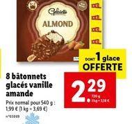 Glace à la vanille offre à 2,29€