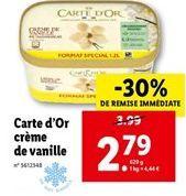 Glace à la vanille Carte d'or offre à 2,79€