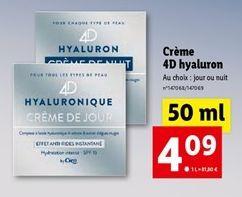 Crème visage offre à 4,09€