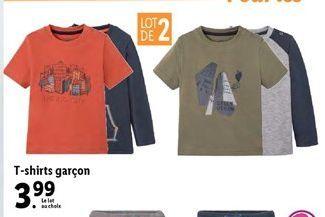 T-shirt offre à 3,99€