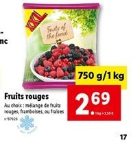 Fruits rouges offre à 2,69€