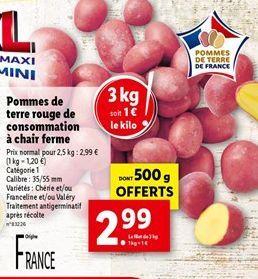 Pommes de terre offre à 2,99€