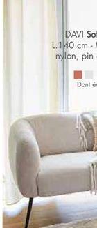 DAVI Sofa beige H 71 x Larg. 71 x Long. 140 cm offre à 299€