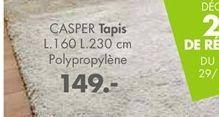 CASPER Tapis beige Larg. 160 x Long. 230 cm offre à 149€