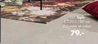 LILY Tapis multicolore Larg. 120 x Long. 180 cm offre à 79€