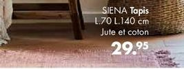 SIENA Tapis . Larg. 70 x Long. 140 cm offre à 29,95€