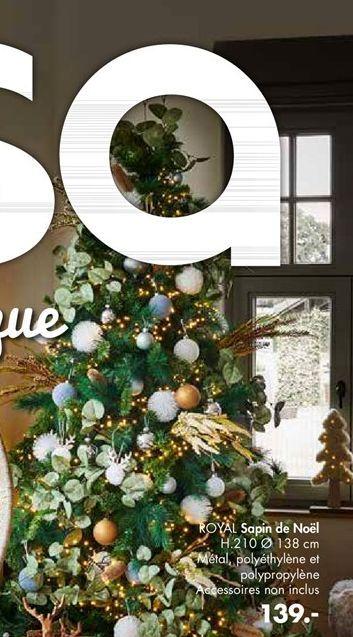 ROYAL Sapin de Noël vert H 210 cm; Ø 138 cm offre à 139€