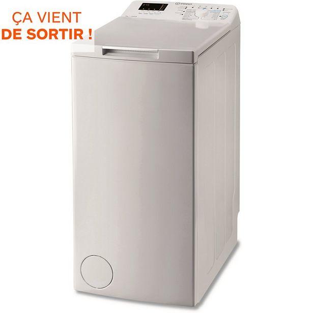 Lave linge top Indesit BTWS72200FR/N offre à 359€