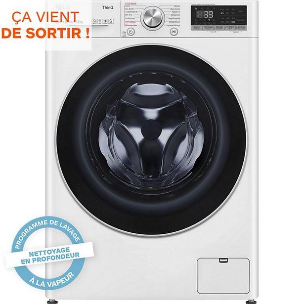 Lave linge séchant hublot LG F964V71WRHT offre à 749€