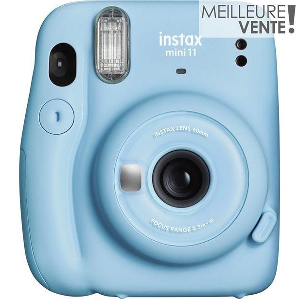 Appareil photo Instantané Fujifilm Instax Mini 11 sky blue offre à 79,99€