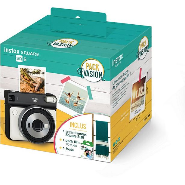 Appareil photo Instantané Fujifilm Pack Instax SQ6 Blanc offre à 129€