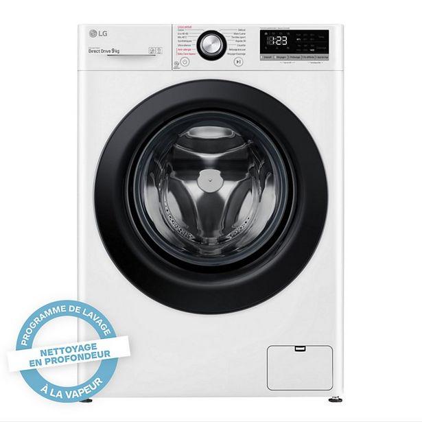 Lave linge hublot LG F94N25WHS offre à 499€