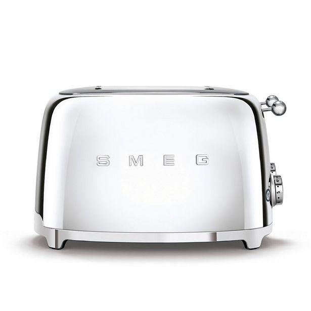 Grille-pain Smeg TSF03SSEU Toaster 4 tranches Chrome offre à 199€