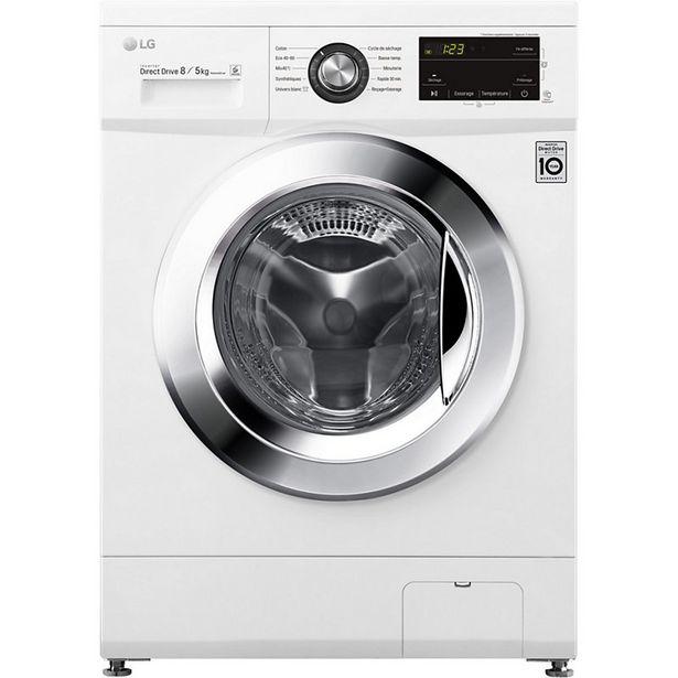 Lave linge séchant hublot LG F854M22WR offre à 579€