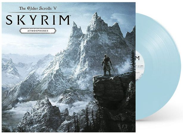 Vinyle The Elder Scrolls V Skyrim Atmospheres 1 LP Bleu Clair  DIVERS  offre à 39,99€