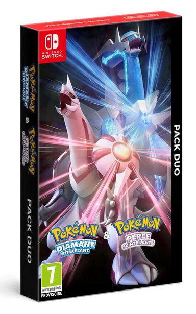 Pack Pokemon Diamant Etincelant + Perle Scintillante  SWITCH  offre à 119,99€
