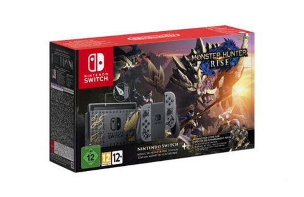 Pack Nintendo Switch Edition Limitée Monster Hunter Rise (code Téléchargement)   offre à 399,99€