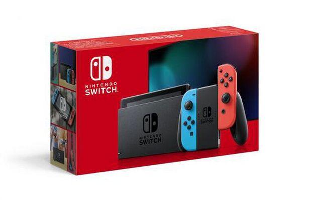 Nintendo Switch 1.1 Avec 1 Joy-con Rouge Néon + 1 Joy-con Bleu Néon   offre à 329,99€