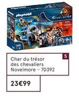 Char du trésor des chevaliers Novelmore Playmobil offre à 23,99€