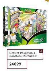 "Coffret Pokémon 4 Boosters ""Asmodee"" offre à 29,99€"