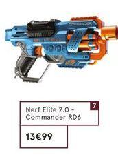 Nerf Elite 2.0 Commander RD6 offre à 13,99€