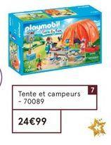 Tente et campeurs Playmobil offre à 24,99€