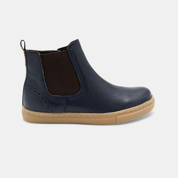 Boots chelsea cuir à élastique offre à 39,99€
